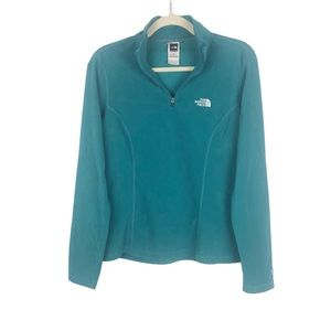 The North Face Teal 1/4 Zip Fleece Pullover